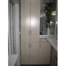 Шкаф на балкон 0006 (с тумбой)